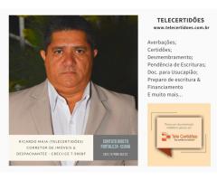 Ricardo Barbosa Maia - CRECI/CE 7.980F (DESPACHANTE)